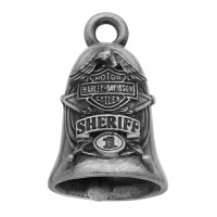 SHERIFF Motorcycle Ride Bell Harley Davidson ® Mod Jewelry® FREE SHIPPINGHRB062 - Product Image