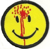 "SHOT SMILEY FACEBiker Patch2 1/2"" RoundFREE SHIPPING - Product Image"