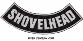 "SHOVELHEAD  Lower Rocker  Biker Patch   3 Color Choices  11"" X 3""  FREE SHIPPING - Product Image"