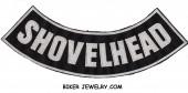 "SHOVELHEAD  Lower Rocker  Biker Patch   3 Color Choices  11"" X 3""  FREE SHIPPING - Product Image"