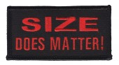 "SIZE Does Matter! Motorcycle Biker Patch3 3/4"" x 2""FREE SHIPPING - Product Image"