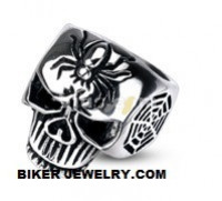 SPIDER RING  Stainless Steel  Men's Skull Biker Ring  Sizes 8-16  FREE SHIPPING - Product Image