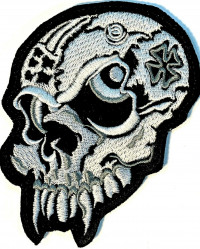 Skull Motorcycle Biker Patch   FREE SHIPPING - Product Image