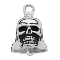 Sterling Silver Skull Motorcycle Ride Bell ®  - Product Image