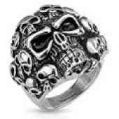 Men's Skull Ring  Stainless Steel  Sizes 9-16  FREE SHIPPING - Product Image