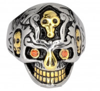 Skull Stainless Steel Biker Ring Sizes 9-15 Free Shipping - Product Image
