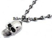 Skull Necklace with Skull Pendent  FREE SHIPPING - Product Image
