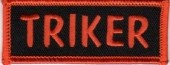 "SmallTRIKERBiker Patch1"" x 3""FREE SHIPPING - Product Image"