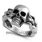 Stainless Steel  Skull Ring  two Hot Women  Sizes 9-16  FREE SHIPPING - Product Image