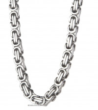 Stainless Steel 10mm Byzantine Necklace FREE SHIPPING - Product Image