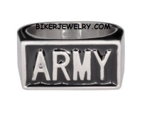 Stainless Steel ARMY Military Ring FREE SHIPPING - Product Image