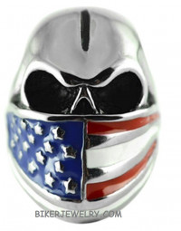 Stainless Steel Bandanna U.S.A. Flag Ring Sizes 8-16FREE SHIPPING - Product Image