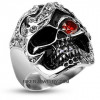 Stainless Steel  Bling Pirate Skull Ring  Sizes 9-14  FREE SHIPPING