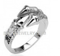 Stainless Steel Claw Eagle Talon Ring  FREE SHIPPING - Product Image