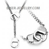 Stainless Steel Handcuff Necklace FREE SHIPPING - Product Image