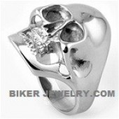 Large Man's  Stainless Steel  Biker Skull Ring  Sizes 9-16  FREE SHIPPING - Product Image