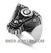 Stainless Steel  Motorcycle Motor Ring  Sizes 9-16  FREE SHIPPING - Product Image