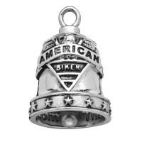 Stainless Steel Motorcycle Ride Bell ® American Biker  FREE SHIPPING - Product Image