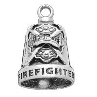Stainless Steel Motorcycle Ride Bell ® Firefighter  FREE SHIPPING - Product Image