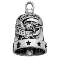 Stainless Steel Motorcycle Ride Bell ® Live to Ride Ride to Live  FREE SHIPPING - Product Image