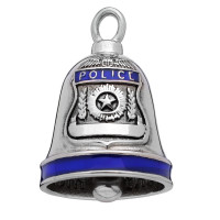 Stainless Steel Motorcycle Ride Bell ® Police  FREE SHIPPING - Product Image