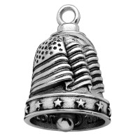 Stainless Steel Motorcycle Ride Bell ® U.S.A. Flag  FREE SHIPPING - Product Image