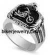 Stainless Steel  Motorcycle/Eagle Biker Ring  Sizes 9-18   FREE SHIPPING