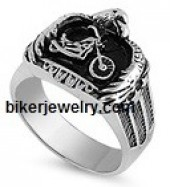 Stainless Steel  Motorcycle/Eagle Biker Ring  Sizes 9-18   FREE SHIPPING - Product Image