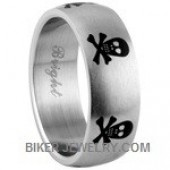 Stainless Steel  Skull and Crossbones Band  Sizes 9-14  FREE SHIPPING - Product Image