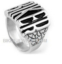 "Stainless Steel Motorcycle""BIKER"" RingSizes 7-17FREE SHIPPING - Product Image"