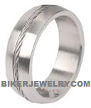 Stainless Steel  Cable Comfort Fit  Wedding Band  Sizes 5-14  FREE SHIPPING - Product Image