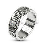 Stainless Steel Chain LinkWedding BandSize 5-14FREE SHIPPING - Product Image