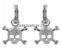 Stainless Steel Skull and Crossbone Earrings  FREE SHIPPING - Product Image