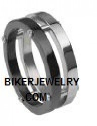Stainless Steel  Titanium Precision Ring  Sizes 9-13  FREE SHIPPING - Product Image
