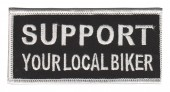 "Support Your Local BikerMotorcycle Bike Patch1 3/4"" x 4""FREE SHIPPING - Product Image"