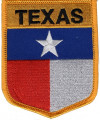 """TEXAS State Flag  Biker Patch  3"""" x 3 1/2""""  FREE SHIPPING"""