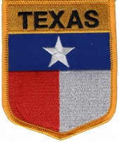 "TEXAS State Flag  Biker Patch  3"" x 3 1/2""  FREE SHIPPING - Product Image"