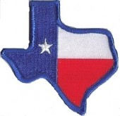 "TEXAS State FlagBiker Patch3 1/4"" x 3""FREE SHIPPING - Product Image"