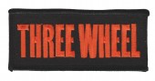 "Three WheelBiker Patch1 3/4 "" x 4""FREE SHIPPING - Product Image"