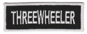 "Three Wheeler  Biker Patch 1 3/4 "" x 5""FREE SHIPPING - Product Image"