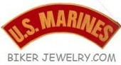"U.S. MARINES  Top or Bottom Rocker  Military Patch  3"" x 11""  FREE SHIPPING - Product Image"