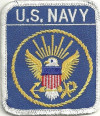 "U.S. NAVY  Military Patch  3 1/4"" x 3""  FREE SHIPPING"