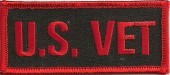 """U.S. VETMilitary Patch1 1/2 """" x 3 1/2 """"FREE SHIPPING - Product Image"""