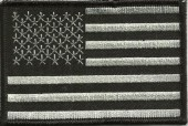 "USA Flag Black and GrayBiker Patch2"" x 3 1/2 ""FREE SHIPPING - Product Image"