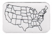 "USA MapMotorcycle Patch3"" x 2""FREE SHIPPING - Product Image"