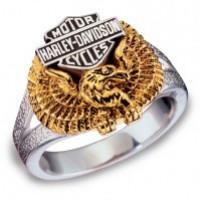 Unisex Sterling Silver Harley Davidson® Eagle Ring Franklin Mint - Product Image