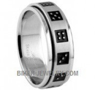 Unisex  Stainless Steel  Dice Spinner Ring  Sizes 9-13  FREE SHIPPING - Product Image