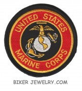 "United States Marine CorpsMilitary Patch 3"" x 3"" RoundFREE SHIPPING - Product Image"