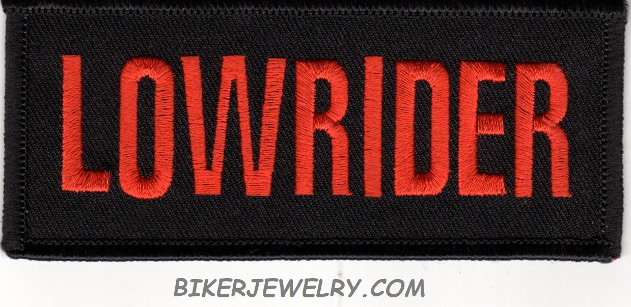 """LOWRIDER Motorcyle Biker Patch  1 3/4 """" x 4""""  FREE SHIPPING - Product Image"""