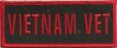 "VIETNAM VETMilitary Patch1 1/2 "" x 4""FREE SHIPPING - Product Image"